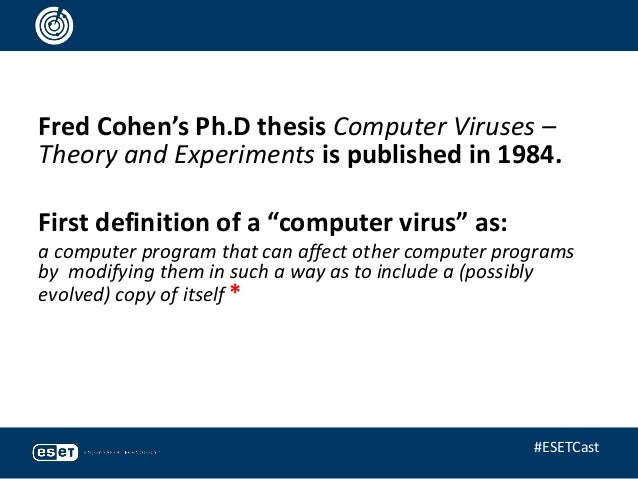 what is computer virus essay Around about computer virus pdf 26,  in his essay von neumann described how a computer program could be designed to reproduce itself.