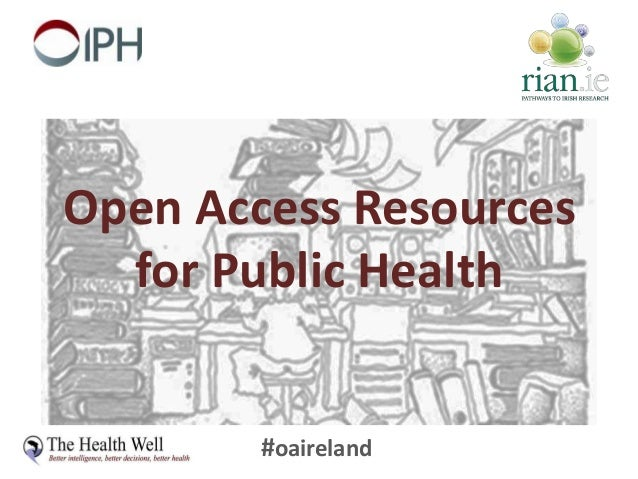 #oaireland Open Access Resources for Public Health
