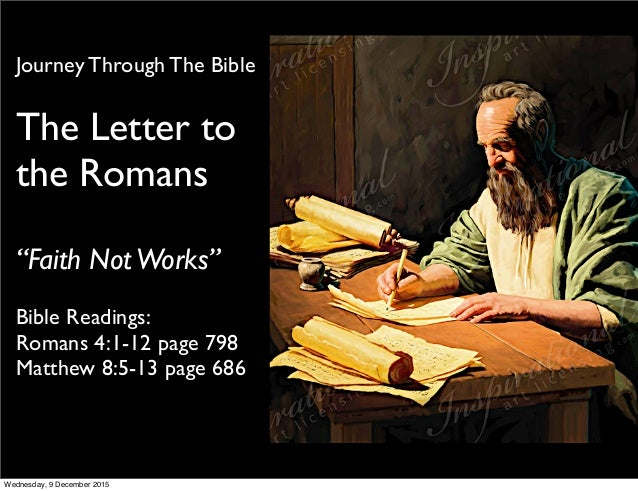 pauls letter to the romans bible readings romans 41 12 page 798 matthew 85