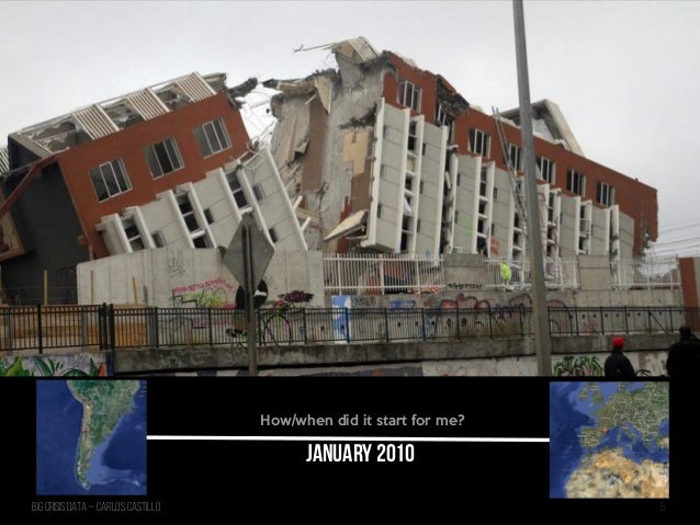 Big Crisis Data — Carlos Castillo 5 January 2010 How/when did it start for me?