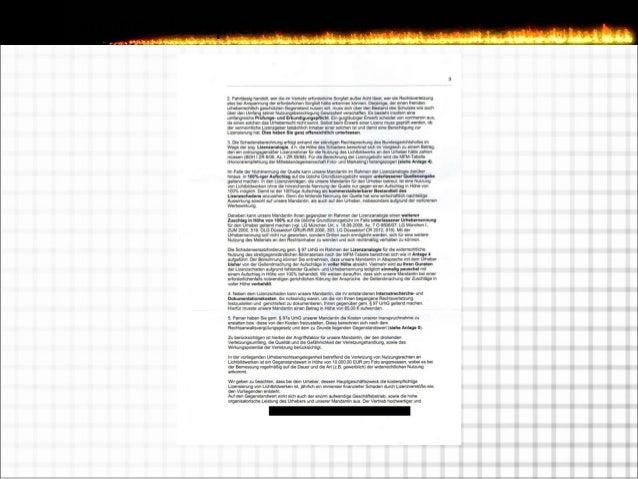 Reaktion auf eine Abmahnung  Postfehler gehen zu Lasten des Empfängers  Rechtsanwalt (schnell) kontaktieren  Unterlassu...