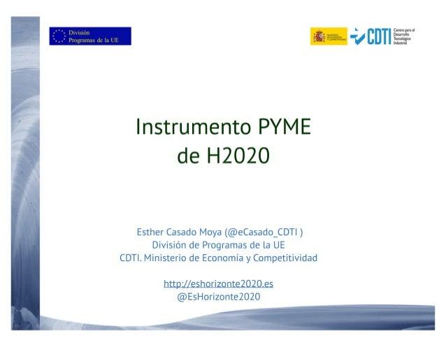 20151105 Visión general del Instrumento PYME