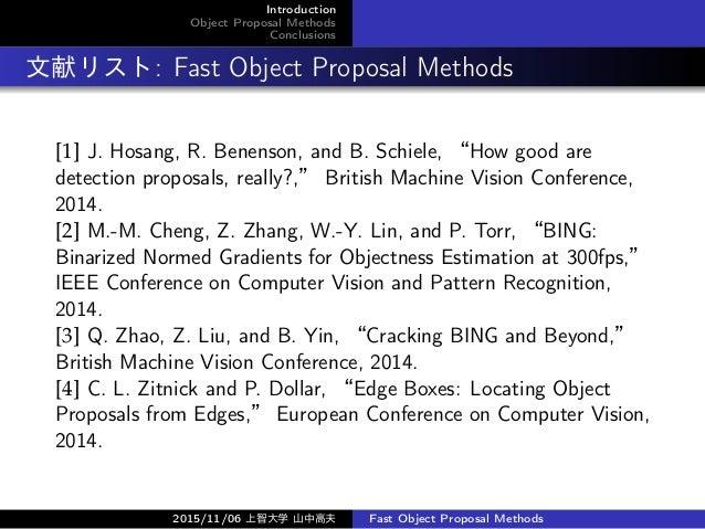 高速な物体候補領域提案手法 (Fast Object Proposal Methods) Slide 2