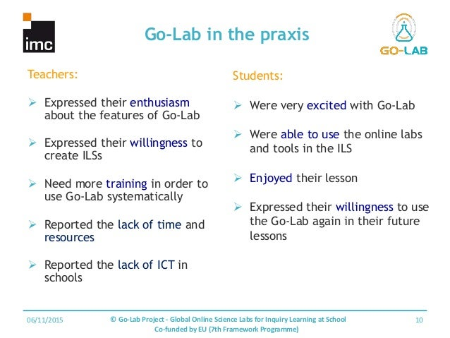 Go-Lab: Global Online Science Labs for Inquiry Learning in