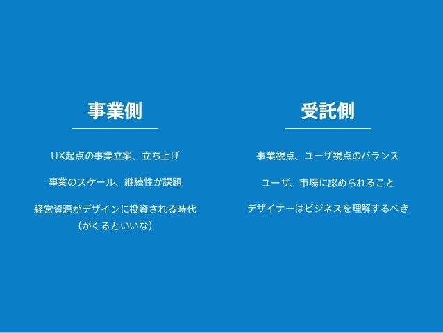 「事業の視点」からサービスを捉え、 最終的なUI/UXまでを具現化できる存在が求められる デザイナーの仕事の領域