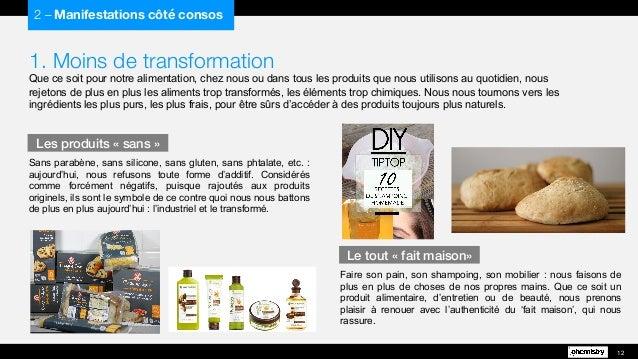 1. Moins de transformation Que ce soit pour notre alimentation, chez nous ou dans tous les produits que nous utilisons au ...