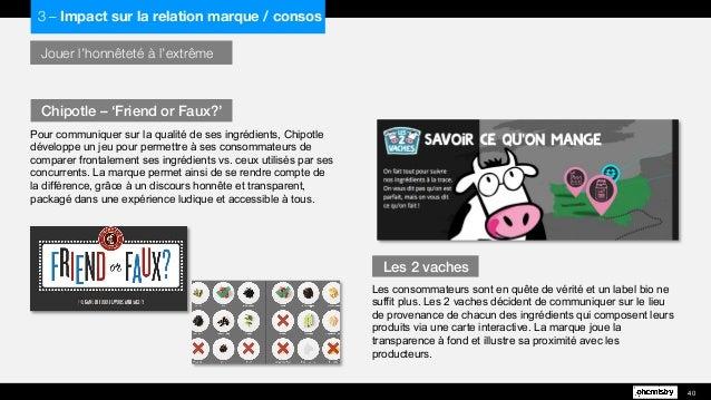 Jouer l'honnêteté à l'extrême  Pour communiquer sur la qualité de ses ingrédients, Chipotle développe un jeu pour permettr...