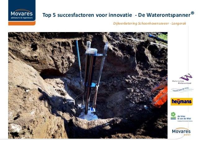 Dijkverbetering Schoonhovenseveer - Langerak Top 5 succesfactoren voor innovatie - De Waterontspanner®