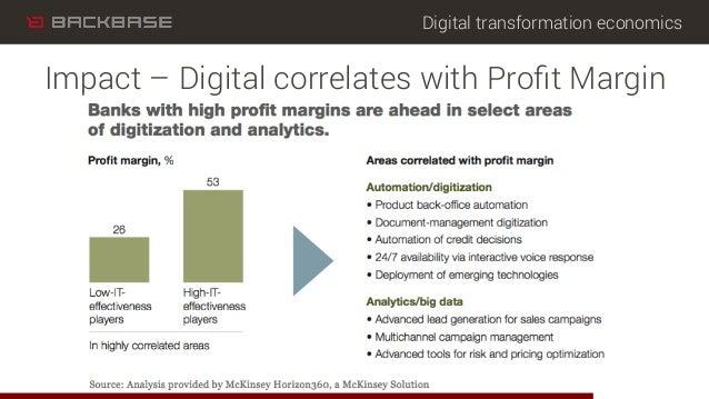 Digital transformation economics Impact – Digital correlates with Profit Margin