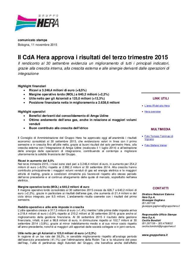 Il CdA Hera approva i risultati del terzo trimestre 2015 ab1611ebdd0