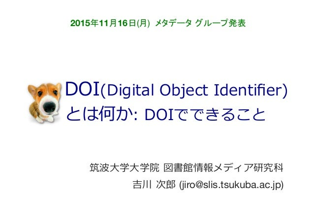 20151116 DOI(Digital Object Id...