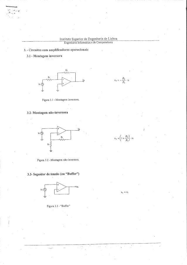 Instituto Superior de Engenharia de Lisboa Engenharia Informéttica e de Computadores  3. - Circuitos com amplificadores ope...
