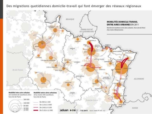 Des migrations quotidiennes domicile-travail qui font émerger des réseaux régionaux