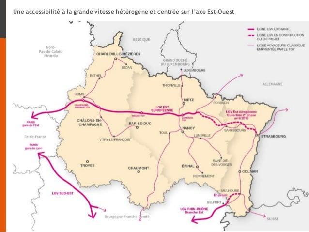 Une accessibilité à la grande vitesse hétérogène et centrée sur l'axe Est-Ouest
