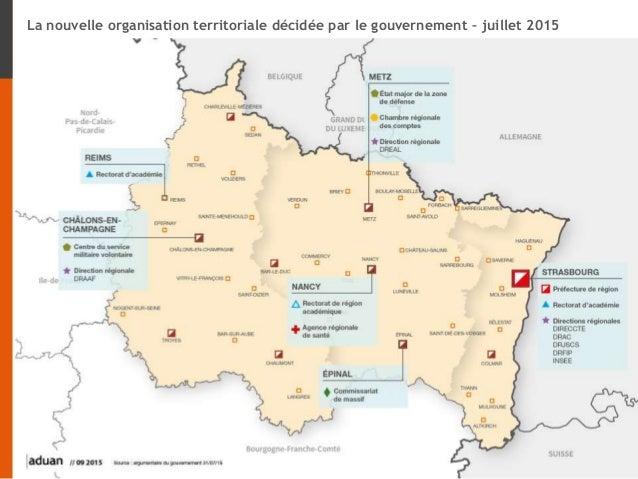 NOUVELLE ORGANISATION TERRITORIALE : premières analyses sur la future région et les impacts de la réforme Lundi 23 novembr...
