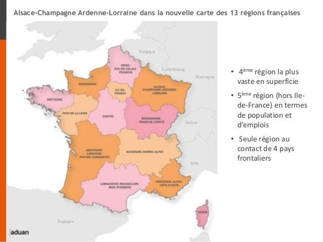• 4ème région la plus vaste en superficie • 5ème région (hors Ile- de-France) en termes de population et d'emplois • Seule...