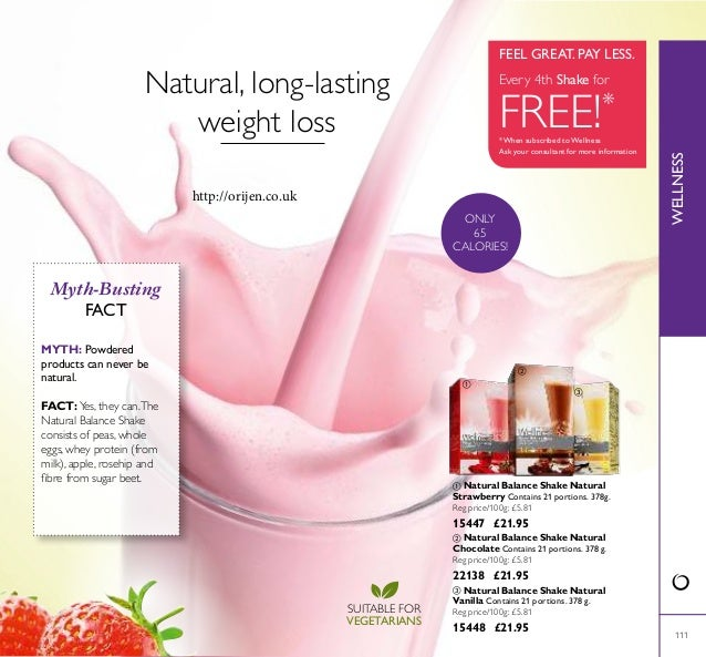 111  Natural Balance Shake Natural Strawberry Contains 21 portions. 378g. Reg price/100g: £5.81 15447 £21.95 WELLNESS  N...