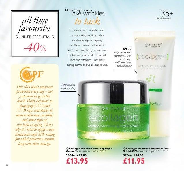 16 35+ For all skin types  Ecollagen Wrinkle Correcting Night Cream 50ml Merch price/100ml: £27.90 26686 £23.00 £13.95  ...