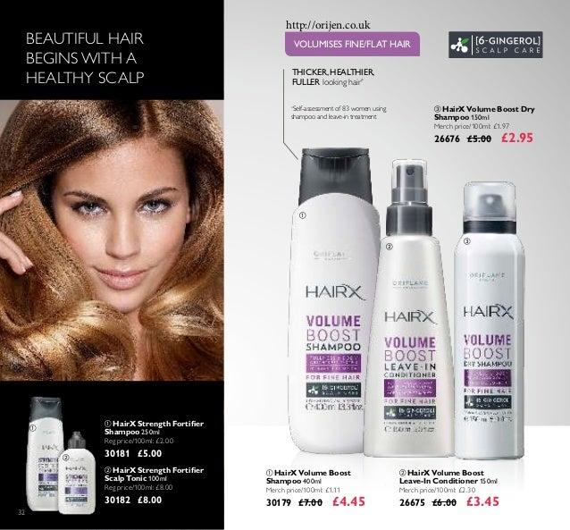 32  HairX Volume Boost Leave-In Conditioner 150ml Merch price/100ml: £2.30 26675 £6.00 £3.45  HairX Volume Boost Shampoo...