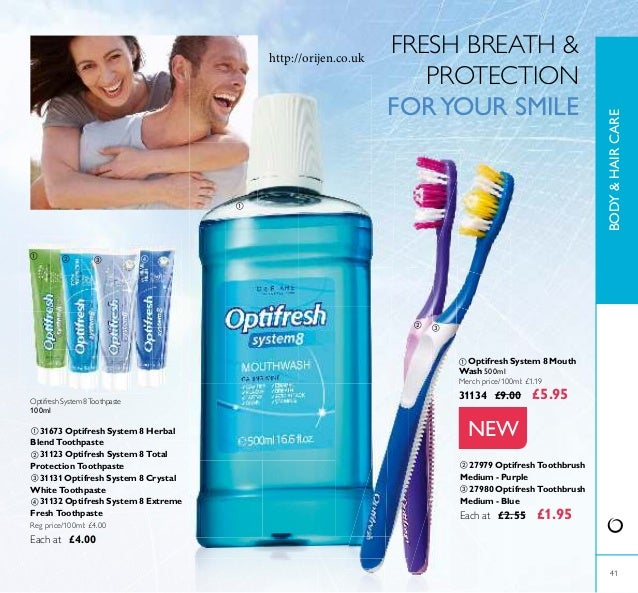 41 NEW Optifresh System 8Toothpaste 100ml ቢ 31673 Optifresh System 8 Herbal Blend Toothpaste ባ 31123 Optifresh System 8 To...