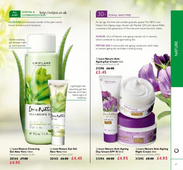      47  Love Nature Eye Gel Aloe Vera 15ml Merch price/10ml: £2.97 30143 £6.00 £4.45  Love Nature Cleansing Gel Al...