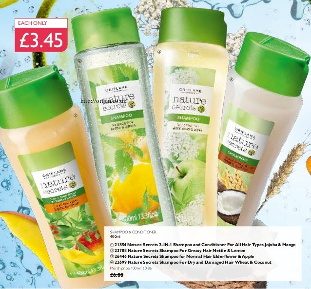 SHAMPOO & CONDITIONER 400ml ቢ 21854 Nature Secrets 2-IN-1 Shampoo and Conditioner For All Hair Types Jojoba & Mango ባ 2370...