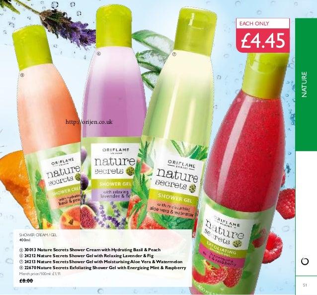 SHOWER CREAM / GEL 400ml  30013 Nature Secrets Shower Cream with Hydrating Basil & Peach  24212 Nature Secrets Shower Ge...