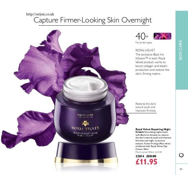 5353 SKINCARE Royal Velvet Repairing Night Cream Nourishing night cream with Black Iris Infusion to restore the skin's nat...