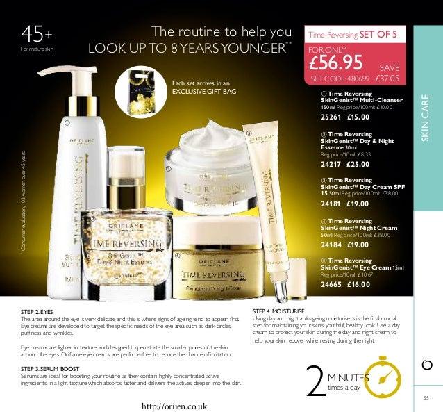 55  Time Reversing SkinGenist™ Eye Cream 15ml Reg price/10ml: £10.67 24665 £16.00  Time Reversing SkinGenist™ Multi-Clea...
