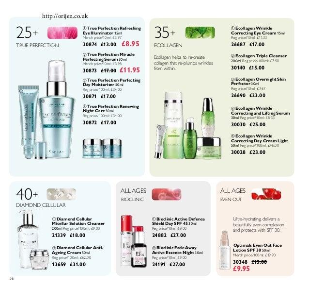             56  True Perfection Renewing Night Care 50ml Reg price/100ml: £34.00 30872 £17.00  Ecollagen W...