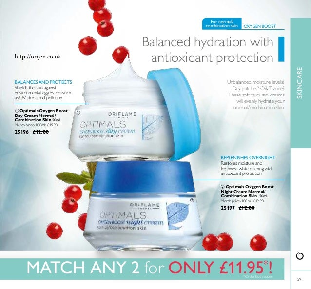   59 REPLENISHES OVERNIGHT Restores moisture and freshness while offering vital antioxidant protection BALANCESAND PROTE...
