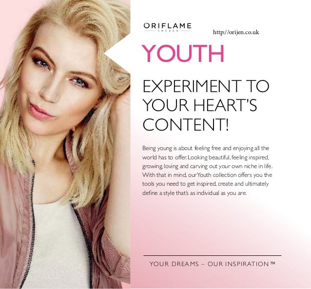 YOUR DREAMS – OUR INSPIRATION™ YOUTH EXPERIMENT TO YOUR HEART'S CONTENT! Being young is about feeling free and enjoying al...