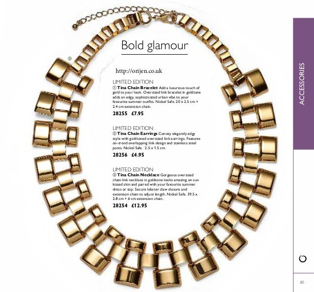  85 ACCESSORIES  Tina Chain Necklace Gorgeous oversized chain link necklace in goldtone looks amazing on sun kissed skin...