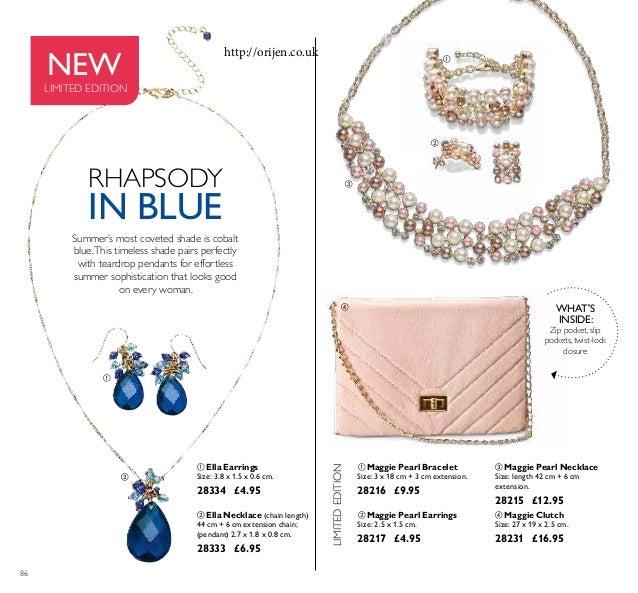      86  Maggie Pearl Necklace Size: length 42 cm + 6 cm extension. 28215 £12.95  Maggie Pearl Bracelet Size: 3 x 1...