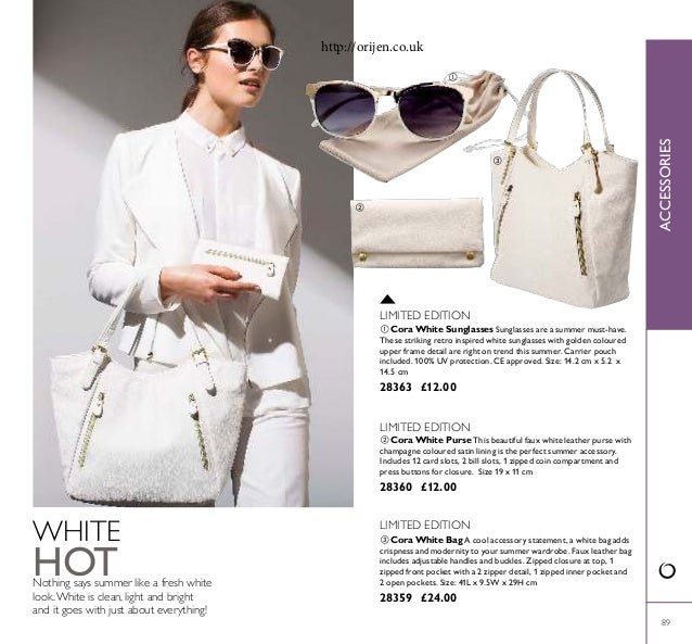 89 WHITE HOTNothing says summer like a fresh white look.White is clean, light and bright and it goes with just about every...
