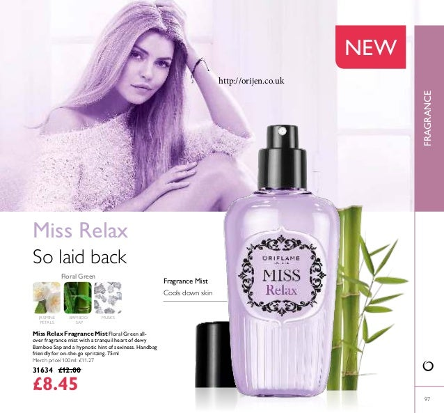 FRAGRANCE 97 JASMINE PETALS Miss Relax Fragrance Mist Floral Green all- over fragrance mist with a tranquil heart of dewy ...