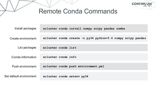 Distributed Computing on your Cluster with Anaconda