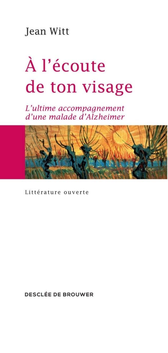 Jean Witt À L'ÉCOUTE DE TON VISAGE DESCLEE DE BROUWER