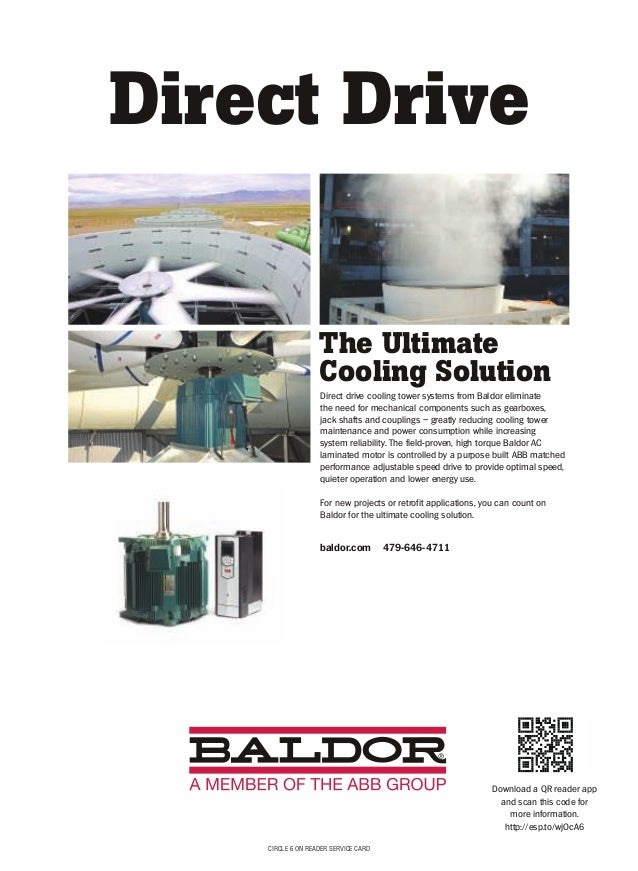 2015 11 power magazine for Baldor direct drive cooling tower motors