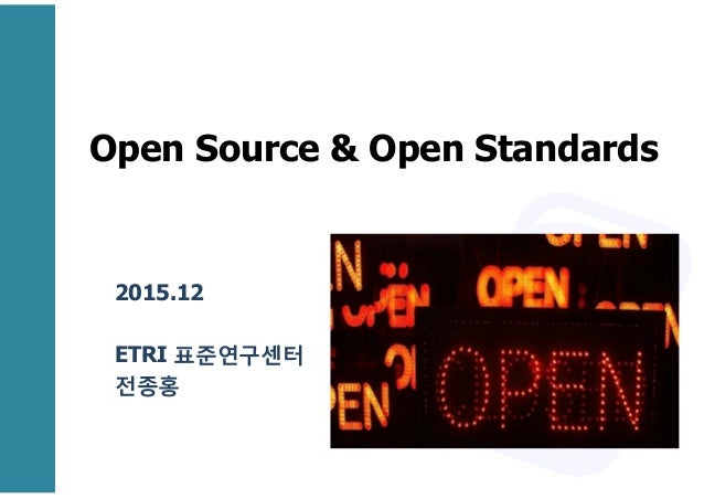 Open Source And Open Standards