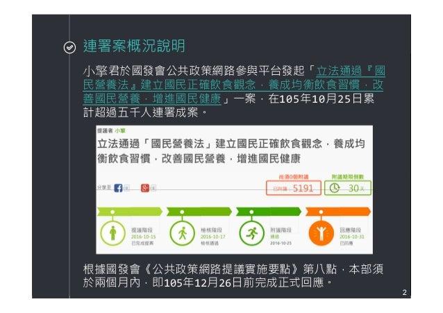 20161202《公共政策網路參與平臺》聯署相關資料 Slide 2