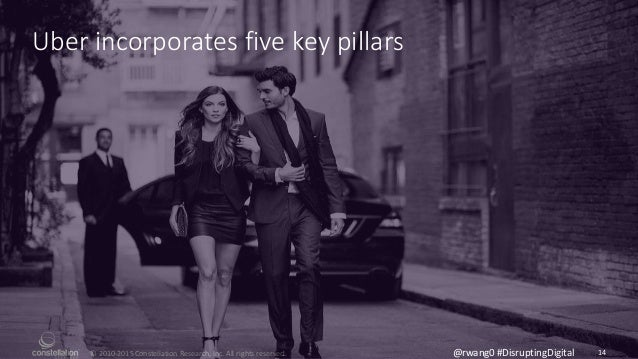 © 2010-2015 Constellation Research, Inc. All rights reserved. 14@rwang0 #DisruptingDigital Uber incorporates five key pill...