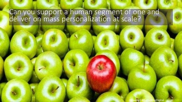 © 2010-2015 Constellation Research, Inc. All rights reserved. 33@rwang0 #DisruptingDigital Can you support a human segment...