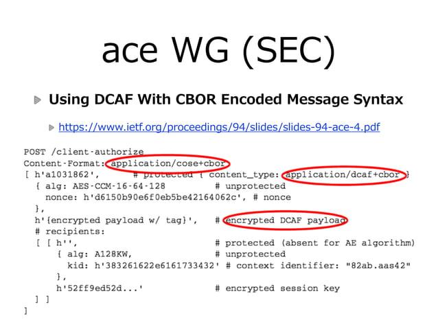 tokbind WG (SEC) Token Binding Protocol & TLS Extension  draft-‐‑‒ietf-‐‑‒tokbind-‐‑‒protocol-‐‑‒03  draft-‐‑‒iet...
