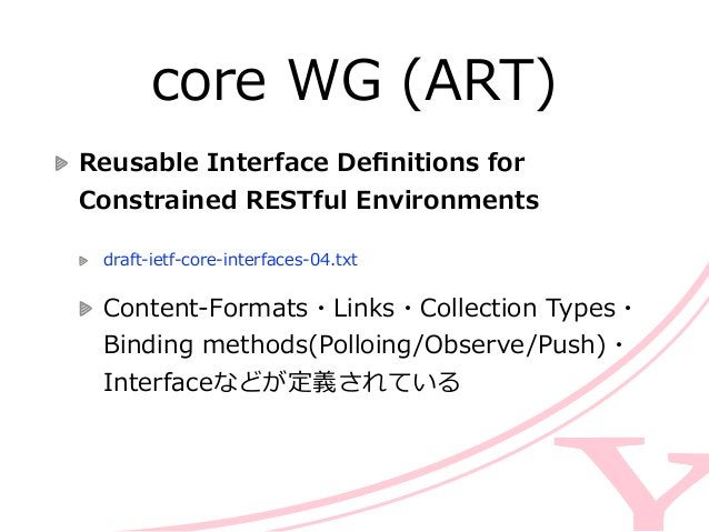 core WG (ART) Patch Method for Constrained Application  Protocol (CoAP)  draft-‐‑‒vanderstok-‐‑‒core-‐‑‒patch-‐‑‒...