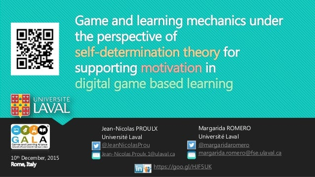 Game and learning mechanics under the perspective of self-determination theory for supporting motivation in digital game b...
