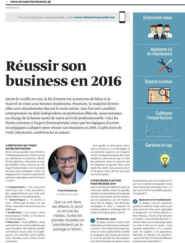 Réussir son business en 2016 - 5 stratégies d'action pour réussir 2016