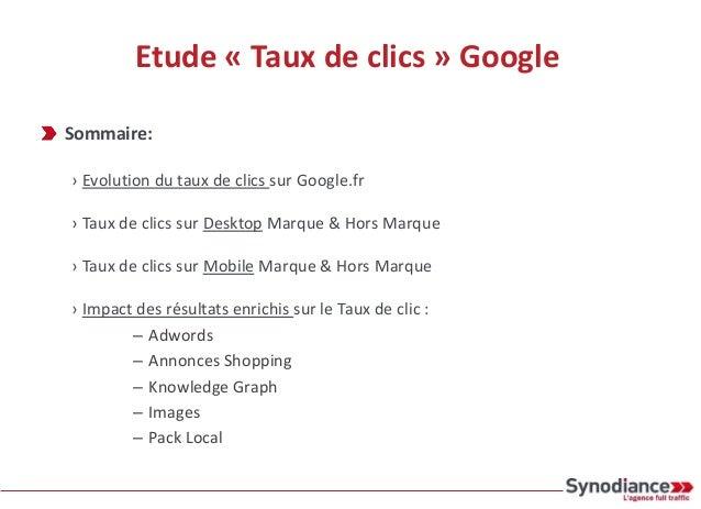 Etude « Taux de clics » Google Sommaire: › Evolution du taux de clics sur Google.fr › Taux de clics sur Desktop Marque & H...