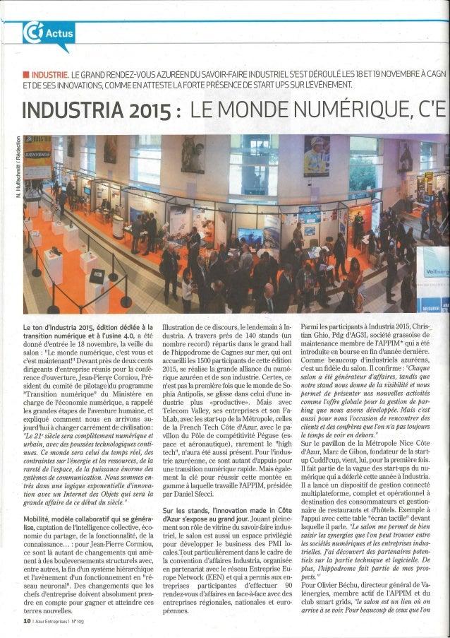 Azur entreprise- Industria 2015