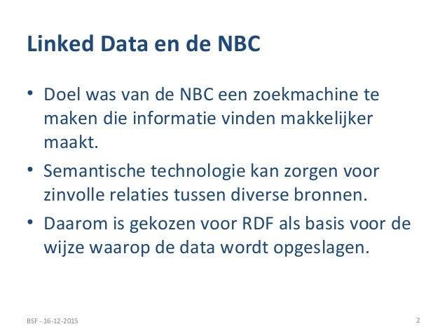 Linked Data en de Nationale Bibliotheekcatalogus Slide 2